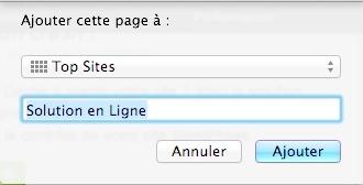 """Choisissez """"Top Sites"""" dans le menu déroulant puis cliquez sur """"Ajouter""""."""
