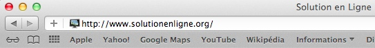 Cliquez sur le + à côté de la barre d'adresse pour ajouter un site au Top Sites.