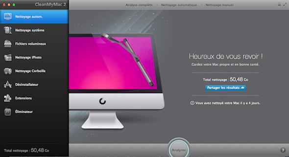 Nettoyer son disque dur sous Mac avec Clean My Mac