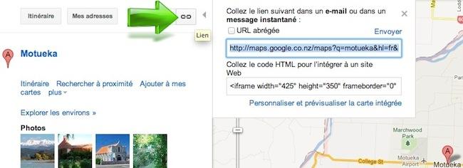 Comment faire un lien vers une carte Google Maps ?