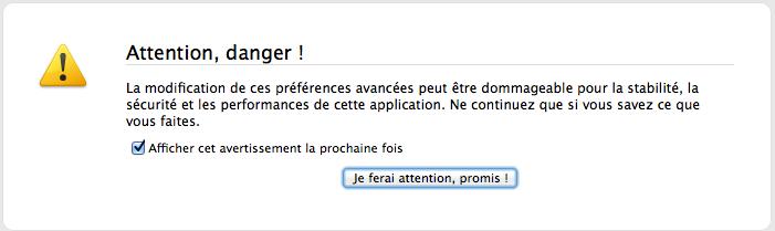 Oui, Firefox... Je ferai attention !