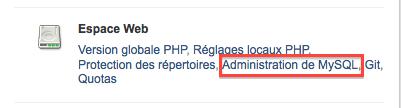 Administration de MySQL 1&1