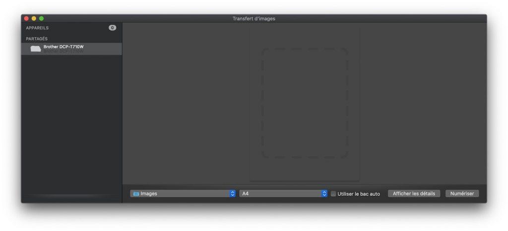 Accès à l'imprimante et au scanner sous Mac
