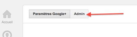 Paramètres Admin Google+