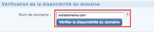 Vérifier la disponibilité du nom de domaine chez 1&1