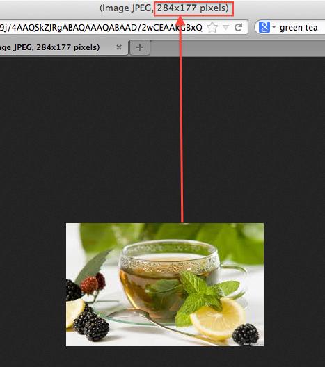 Connaître la taille d'une image grâce à son navigateur