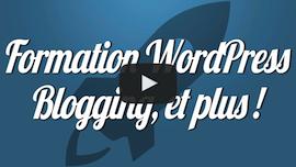 Formez-vous à WordPress, au Blogging, à l'e-Commerce, en vidéo !