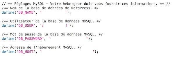 Configurez le fichier wp-config.php