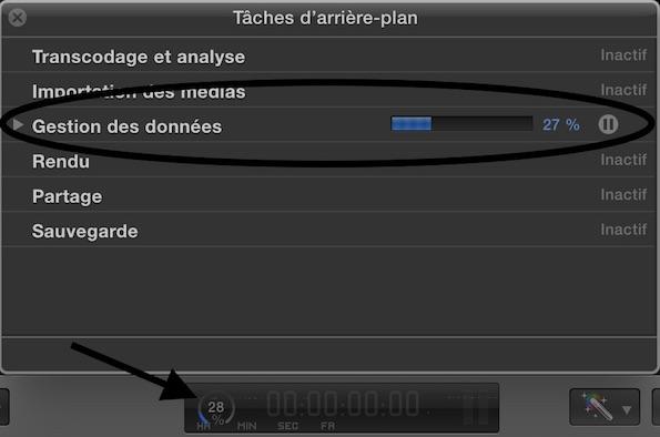 Gestion des données : pour suivre la copie de votre bibliothèque Final Cut Pro X
