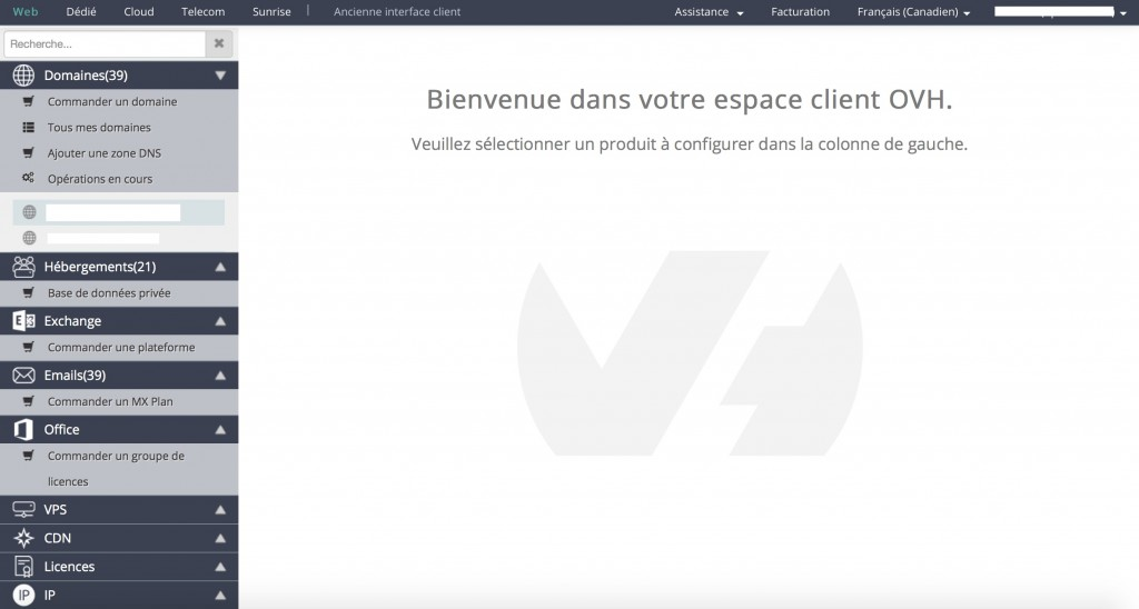Interface client d'OVH : un mic-mac abominable