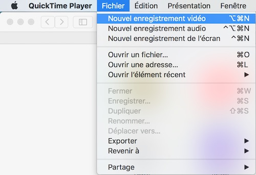 Capture d'écran vidéo d'un iPhone - QuickTime Player