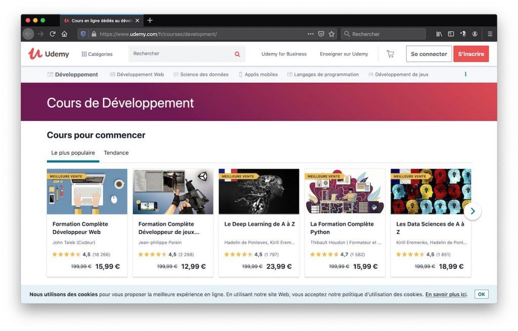Udemy, plateforme de cours vidéos en ligne